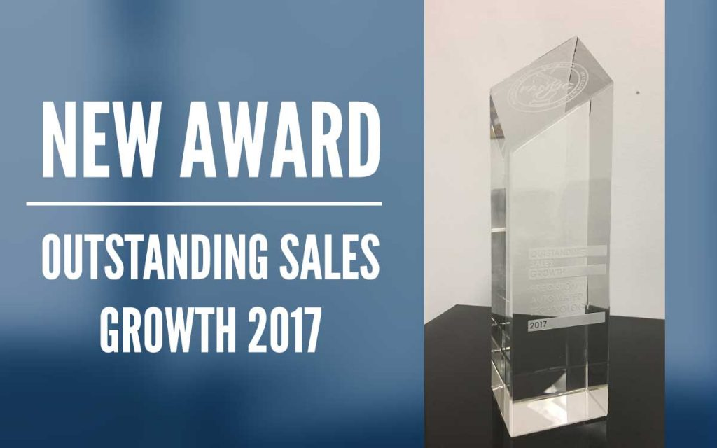 Outstanding Sales Growth 2017 Award